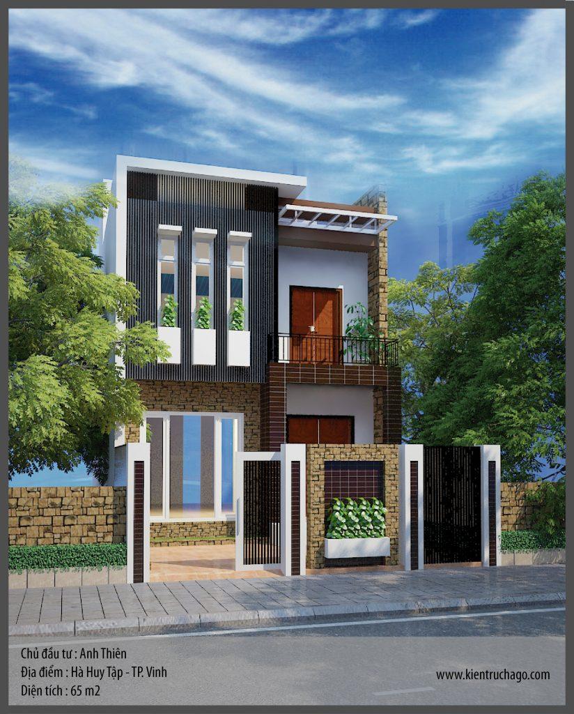 Thiết kế nhà phố Anh Thiên - TP. Vinh