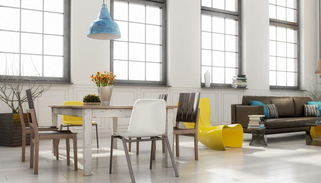 Mẫu thiết kế nội thất phòng ăn hiện đại & sang trọng